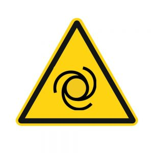 Aufkleber Warnung vor automatischem Anlau