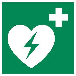 Hinweisschild AED