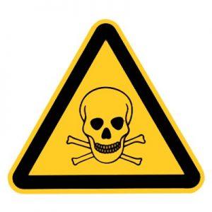 Warnzeichen vor giftigen Stoffen