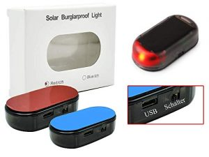 TOPIDEE AUTO ALARMANLAGE SOLAR LED DUMMY