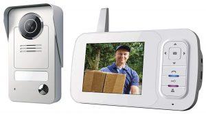 Smartwares VD38W Drahtlose Videotürsprechanlage mit Nachtsichtfunktion und Bildaufnahme - Funkreichweite bis zu 175 m
