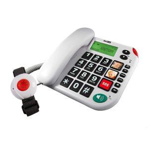 Pflegerufset Senioren-Notruf-Telefon mit Armband-Sender von Maxcom