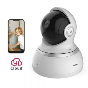 YI 1080p Überwachungskamera WiFi IP Kamera Smart Home mit Nachtsicht Bewegungsalarm Auto-Rotation