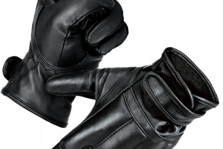 normani Security Lederhandschuhe mit Protektoren und schnitthemmender Kevlar Grifffl/äche Operator